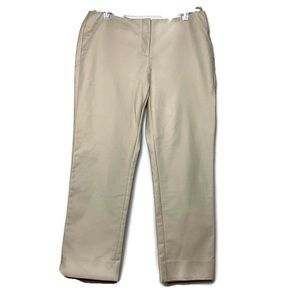 Joe Fresh Tan Capri Pants Mid Rise Split Hem